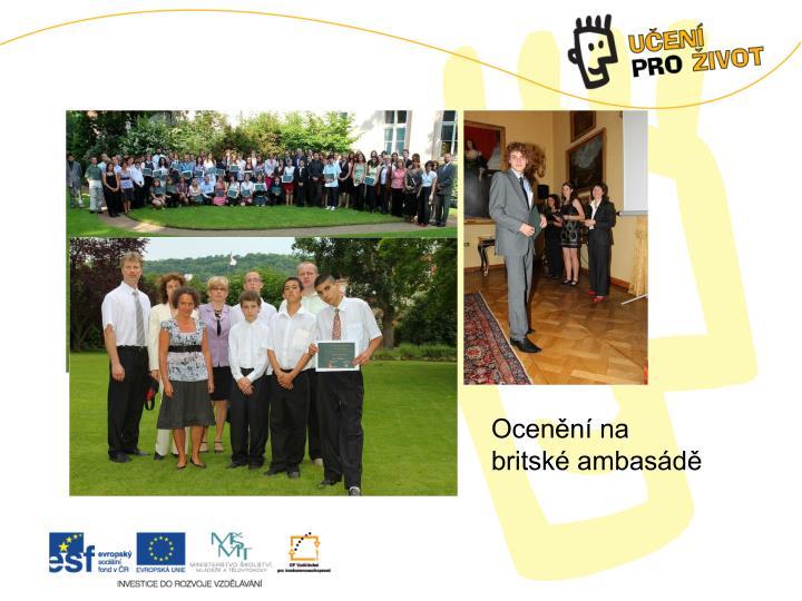 Ocenění na britské ambasádě