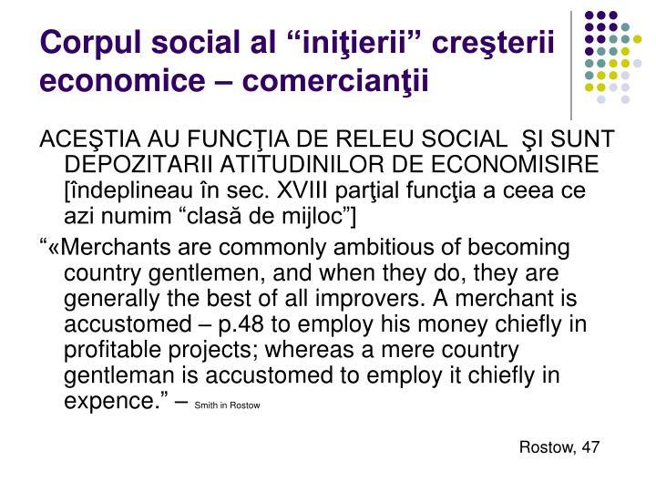 """Corpul social al """"iniţierii"""" creşterii economice – comercianţii"""