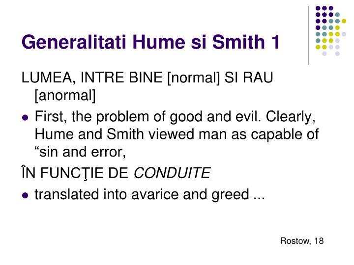 Generalitati Hume si Smith 1