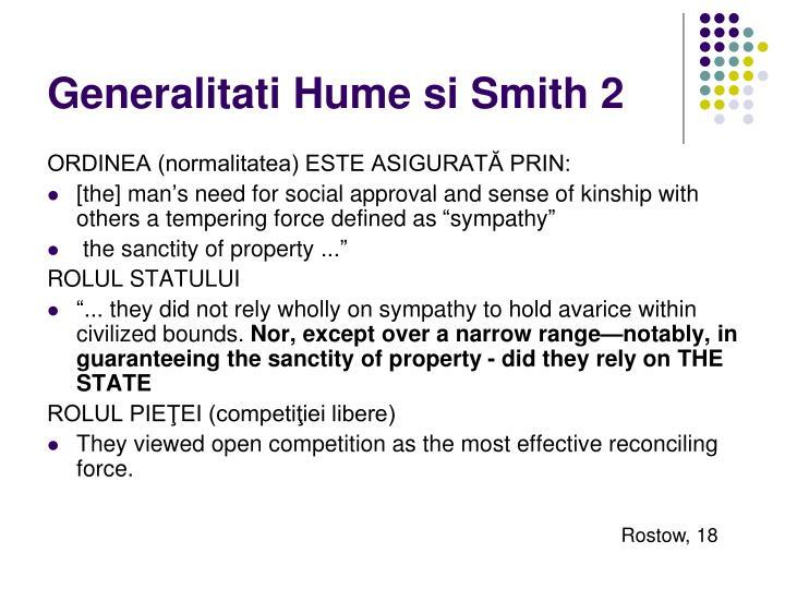 Generalitati Hume si Smith 2