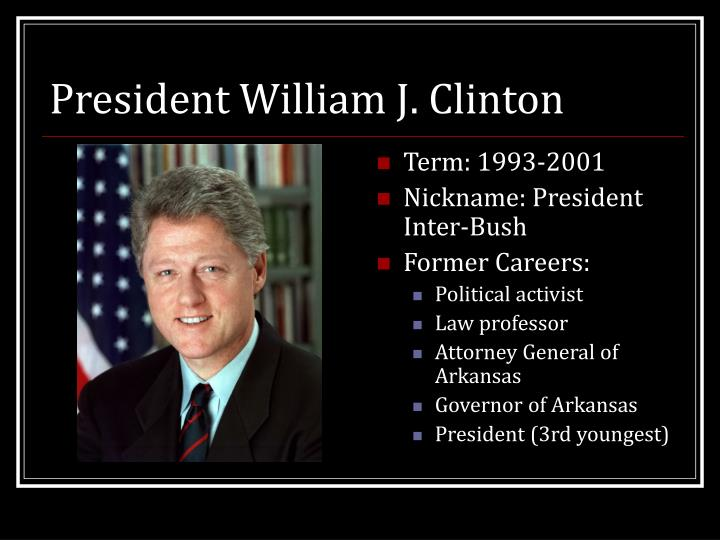 President william j clinton