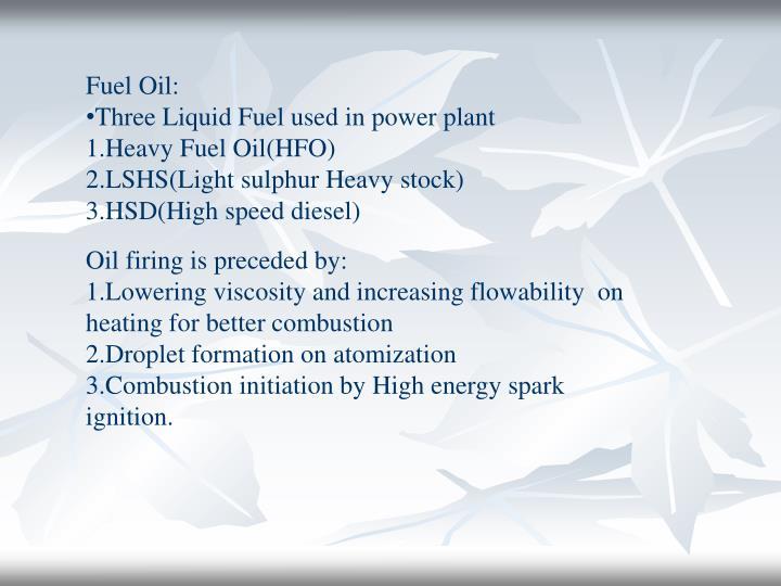 Fuel Oil: