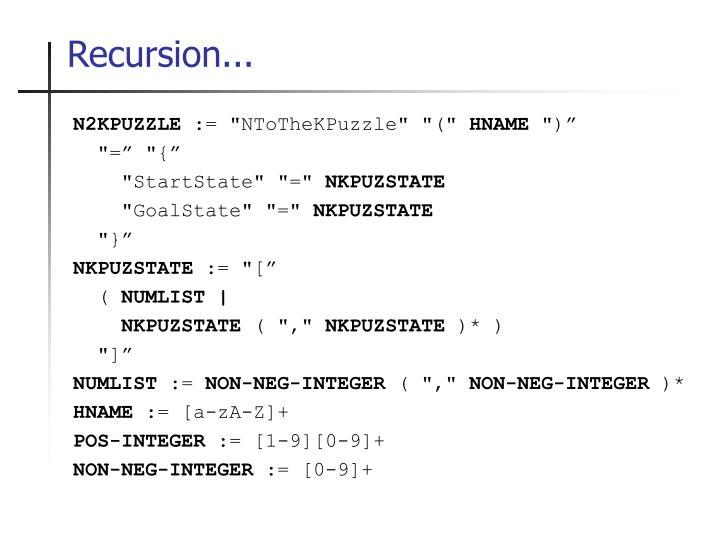 Recursion...