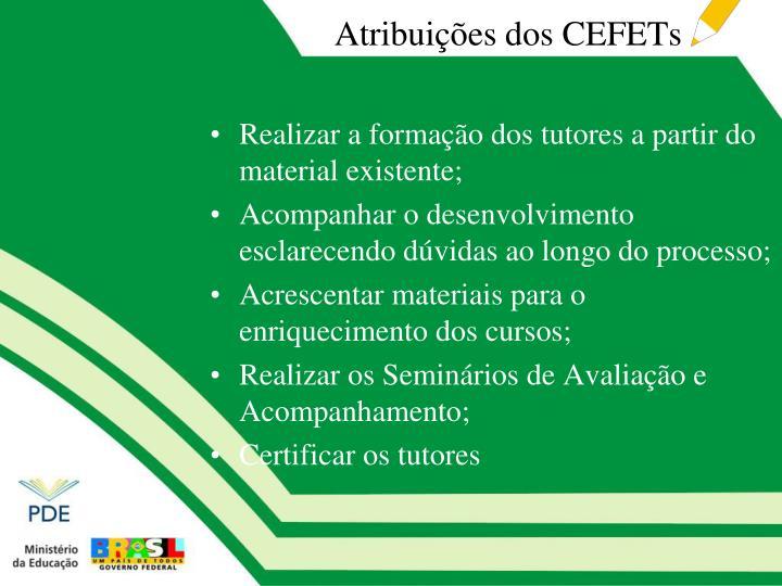 Atribuições dos CEFETs