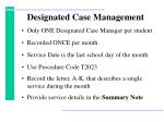 designated case management