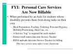 fyi personal care services are now billable