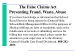 the false claims act preventing fraud waste abuse1
