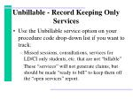 unbillable record keeping only services