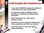 ilan enables the customer to