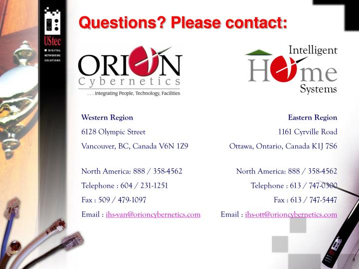 Questions? Please contact: