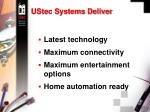 ustec systems deliver