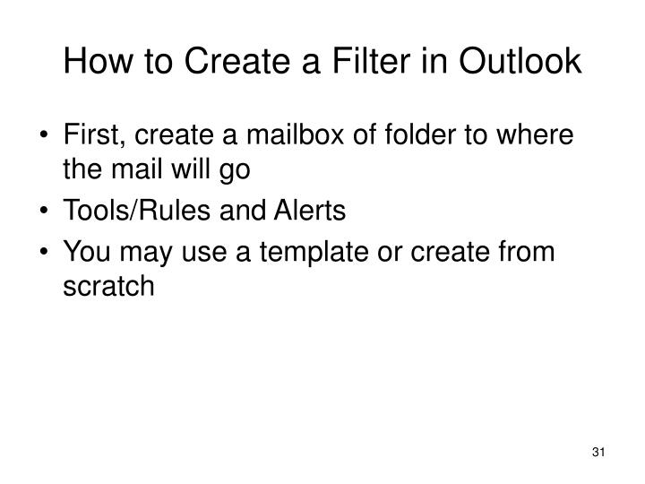 How to Create a Filter in Outlook