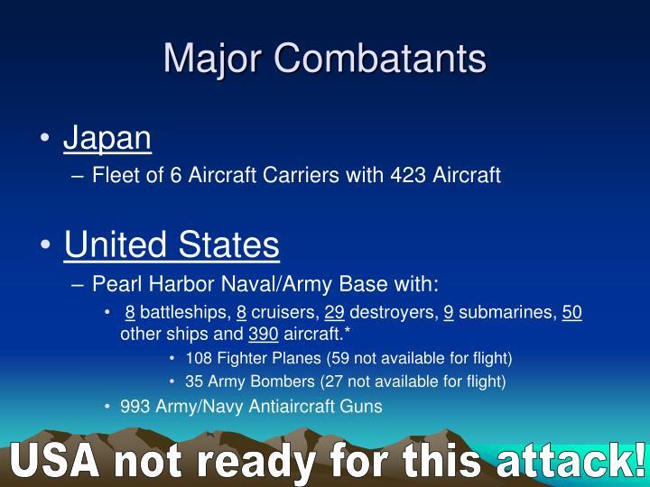 Major Combatants