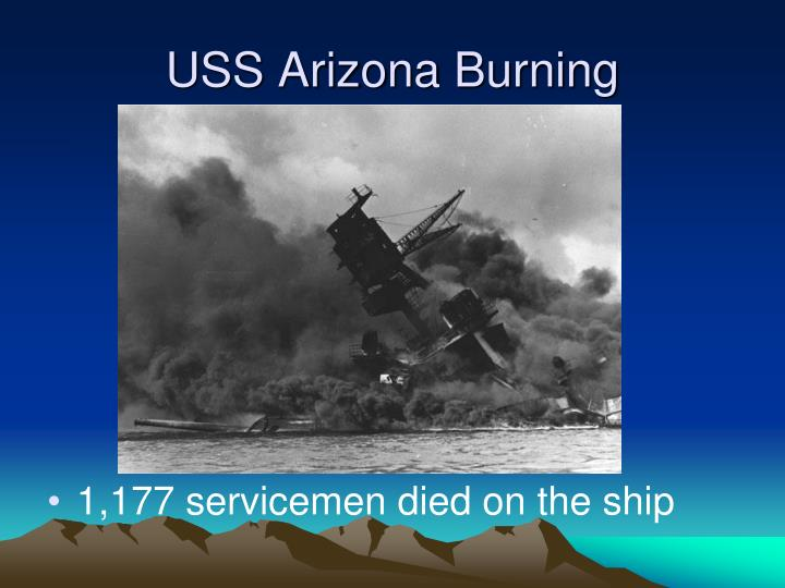 USS Arizona Burning