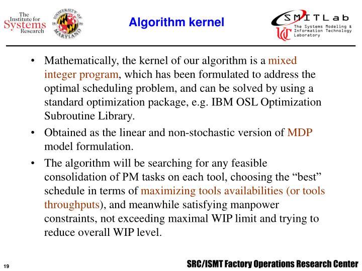 Algorithm kernel