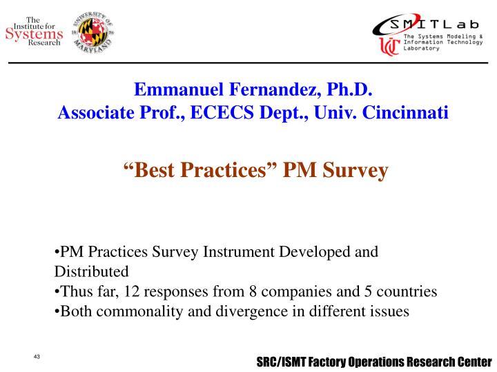 Emmanuel Fernandez, Ph.D.