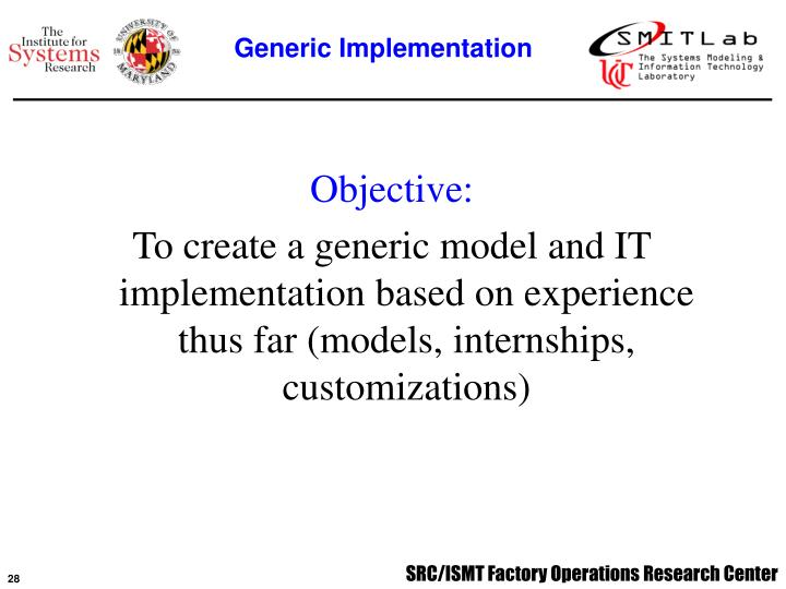 Generic Implementation