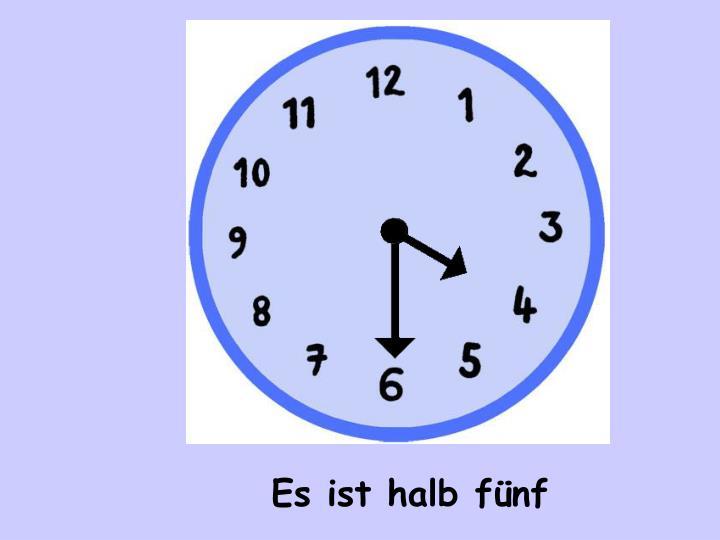 Es ist halb f