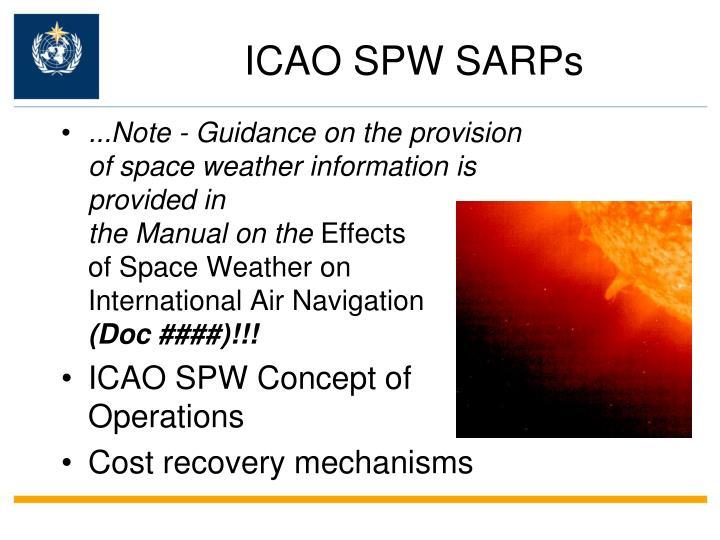 ICAO SPW SARPs