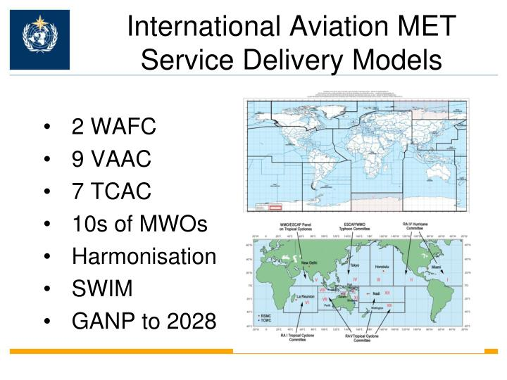 International Aviation MET Service Delivery Models