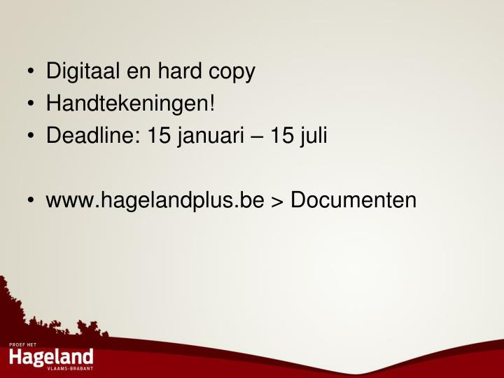 Digitaal en hard copy