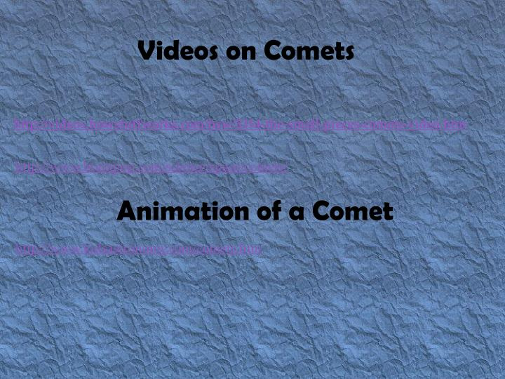 Videos on Comets