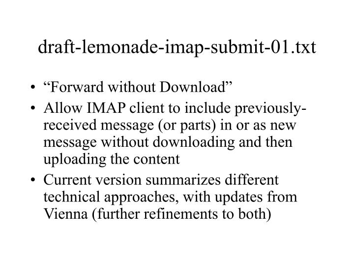 draft lemonade imap submit 01 txt