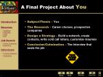 a final project about you
