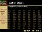 action words