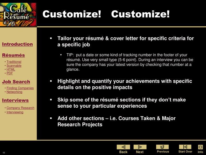 Customize!   Customize!