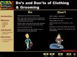 do s and don ts of clothing grooming
