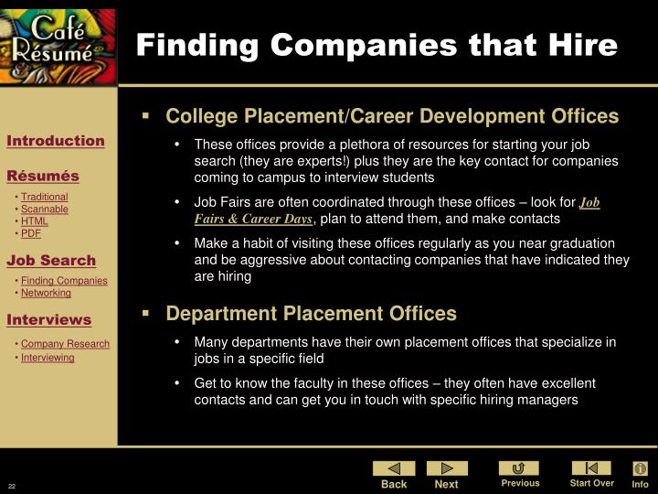 Finding Companies that Hire