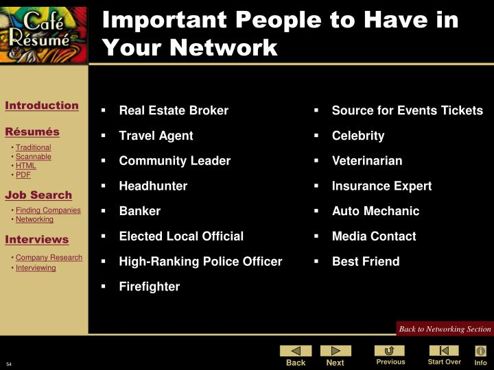 Important People to Have in Your Network