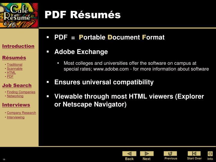 PDF Résumés