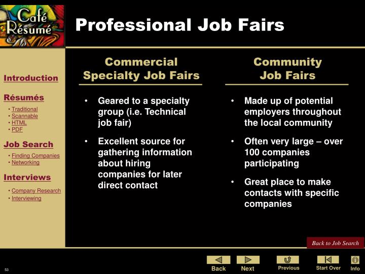Professional Job Fairs