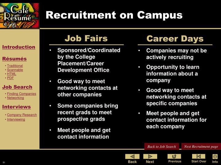 Recruitment on Campus