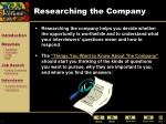 researching the company