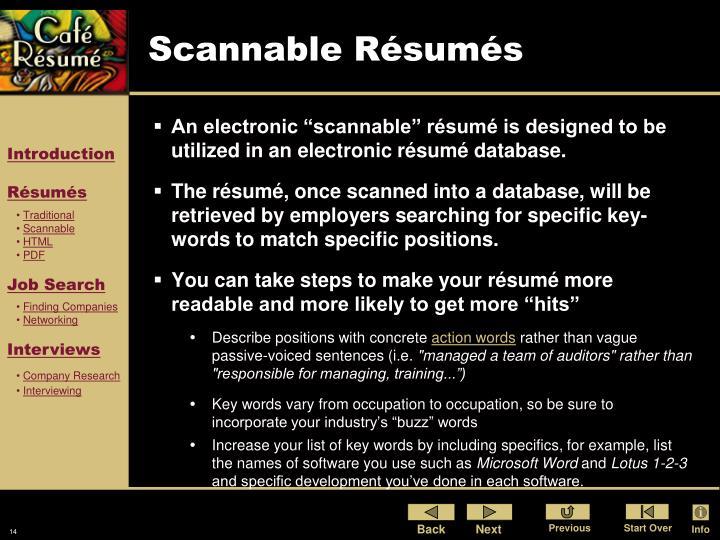 Scannable Résumés
