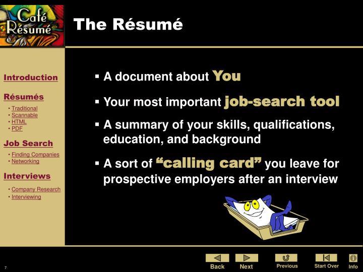 The Résumé