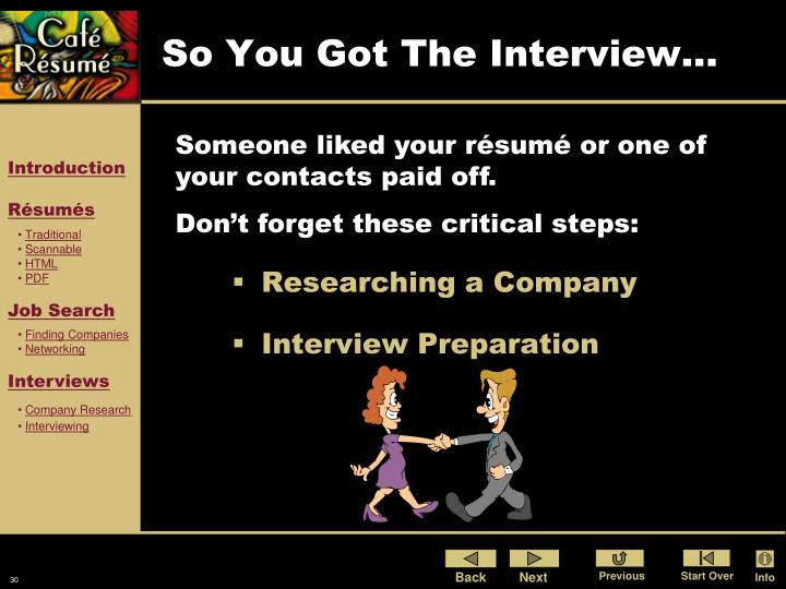 So You Got The Interview...
