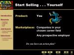 start selling yourself
