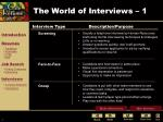the world of interviews 1