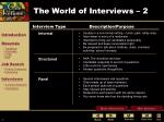 the world of interviews 2