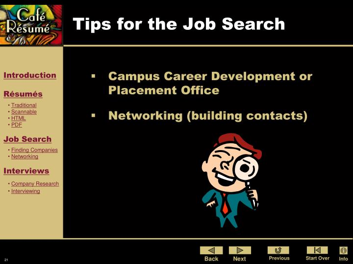 Tips for the Job Search