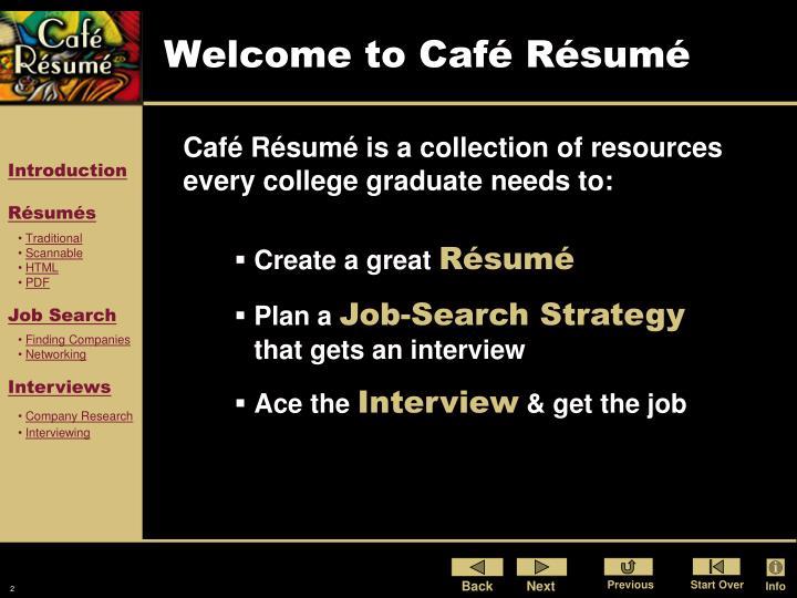 Welcome to Café Résumé