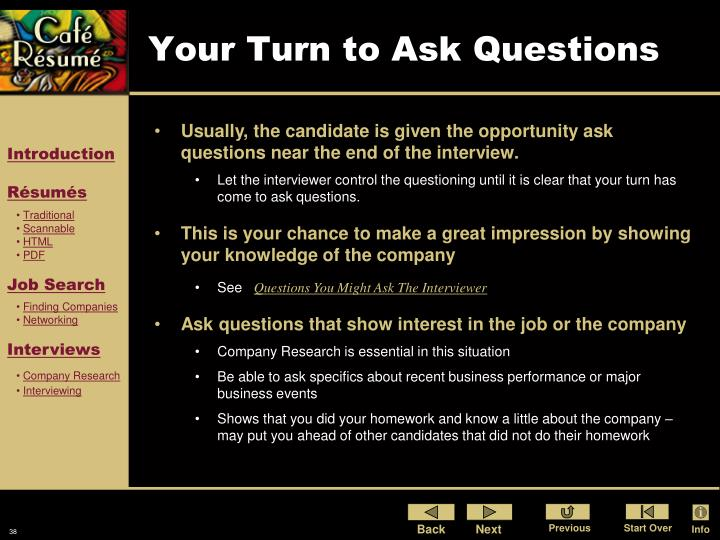 Your Turn to Ask Questions