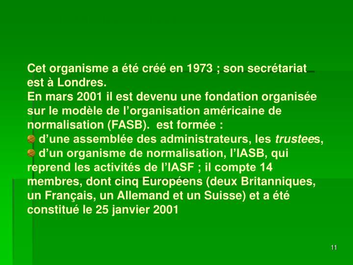 L'IASF devient l'IASB