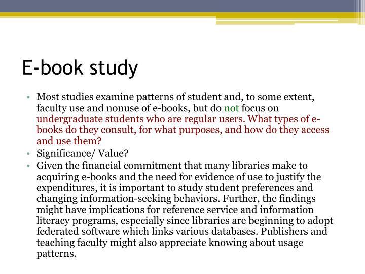 E-book study