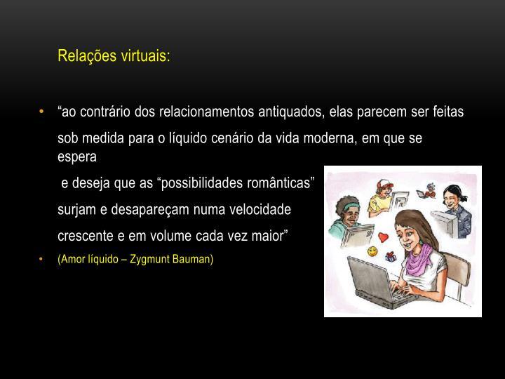 Relações virtuais: