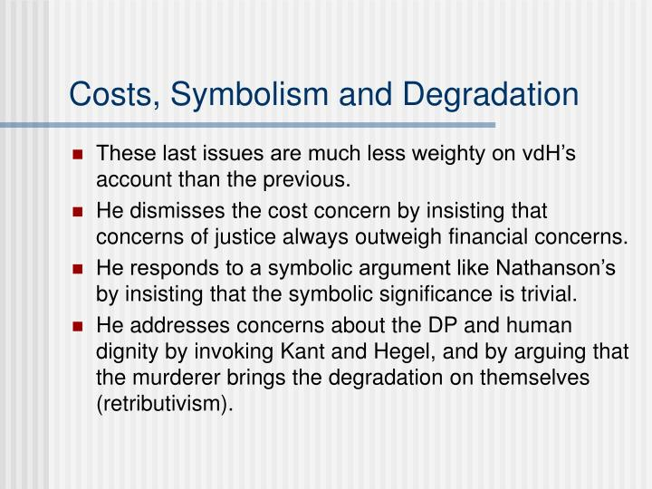 Costs, Symbolism and Degradation